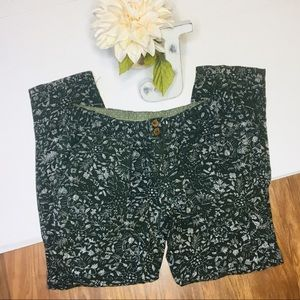 Anthro Hei Hei Floral Joggers Sz2 Casual Pants